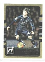 2016-17 Panini Donruss Soccer Luka Modric (Real Madrid) Gold Parallel #143