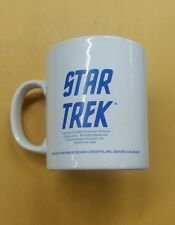 1989 Paramount Pictures Star Trek Coffee Cup Kilncraft STL England