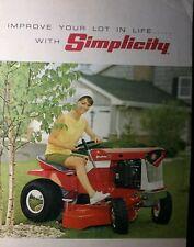 Simplicity Full Color Sales Brochure Serf Landlord Broadmoor Lawn Garden Tractor
