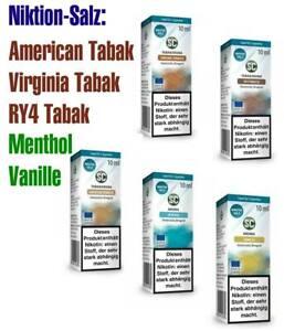 10ml Nic Salt Liquid Nikotinsalz E-Liquid Salz Shot 20mg Tabak Vanille