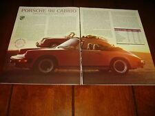 1983 Porsche 911 Cabrio *Original Article / Specifications*
