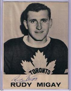 RUDY MIGAY CUSTOM BEEHIVE STYLE PHOTO IN PERSON AUTOGRAPH TORONTO MAPLE LEAFS