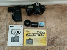 Nikon D100 6.1MP Digital SLR Camera Body w/ 1GB IBM Microdrive + Batt & Charger