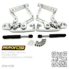 AEROFLOW BILLET ALLOY BONNET HINGES [HOLDEN LC-LJ TORANA & GTR-XU1] POLISHED