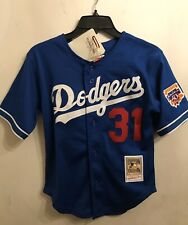 Mitchell & Ness Mike Piazza Los Angeles Dodgers Youth Small 8 Royal Cooperstown