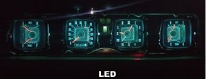 1968-1971 Lincoln Mark III Gauge Instrument Cluster - LED bulb upgrade! 68-71