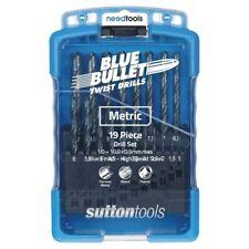 DRILL SET Metric 19 Piece 1-10mm x 0.5 rises Blue Bullet Drill Set Sutton Tools