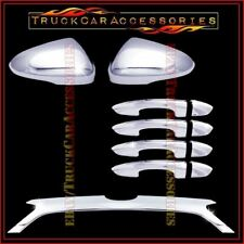 For FORD Fusion 2013-2015 Chrome Covers Mirrors Signal+4 Door w/o+Rear Logo Trim