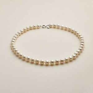"ISLE OF WIGHT REAL White PEARL NECKLACE 15"" Long"