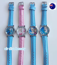 Children Kid Girl Frozen Anna Elsa Synthe leather Wrist Watch Birthday Xmas Gift
