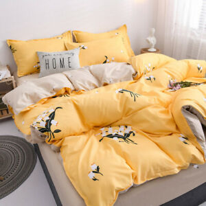 2020 New Year Bedding Printing Set Flat Quilt Cover Pillowcase Home