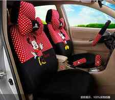 ** 18 Piece Red&Black Polka Dot Mickey and Minnie Car Seat Covers **