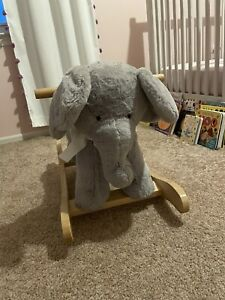 POTTERY BARN KIDS Grey Elephant Rocker