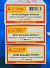HO Scale - ACCURAIL 8133 BURLINGTON NORTHERN PS 3-Bay Cov Hopper Car - KIT 3-Pak