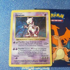 Pokemon Cards Holographic Mewtwo Shadowless 10/102 Holo Wotc Base set Rare