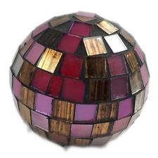 Diskokugel rot Ø 8cm rund - 9x9mm Spiegel aus Glas Spiegelkugel Disco-Kugel Deko