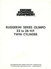 Ruggerini Series Olimpo 22 to 26 H.P. Twin Cylinder Engine brochure