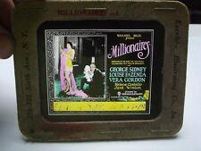 VTG  1926 GLASS SLIDE - MILLIONAIRES - GEORGE SIDNEY - A WB LOST FILM