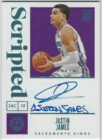 """2019-20 ENCASED JUSTIN JAMES """"SCRIPTED-PLATINUM"""" AUTO RC #140 KINGS ONE of ONE"""