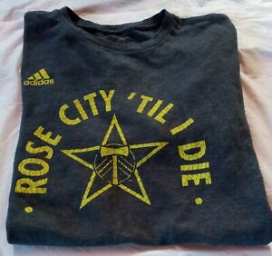 Adidas Portland Timbers Rose City Til I Die T-Shirt Mens Size Medium