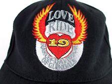 Harley Davidson Of Glendale Love Ride 19 Snapback Baseball Cap Black 2002