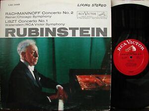 Rubinstein/Rachmaninoff Piano Concerto No. 2 RCA WD Stereo LSC-2068