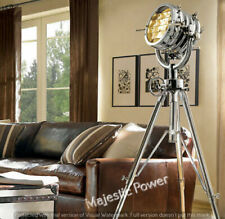 BIG FLOOR SEARCHLIGHT SPOTLIGHT WITH REVOLVING STEEL TRIPOD BIG LAMP