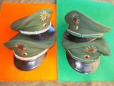 Gr.54-58 grüne  POLIZEI Schirmmütze Dienstmütze Offizier Kommisar, Wachtmeister