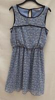 Dorothy Perkins sleeveless floaty/chiffon l'weight lined dress Size 10