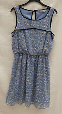 Dorothy Perkins Sleeveless Floaty/mousseline L 'Weight Lined dress size 10