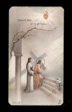 """santino-holy card""""""""ediz. FB*****  n.381 DOMINE JESU,UT TU ET TECUM"""