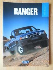 FORD RANGER 1999 UK Mkt Sales Brochure