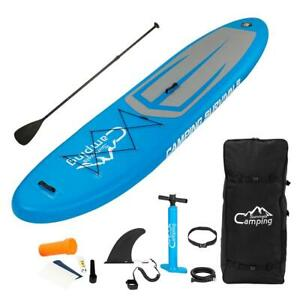 Stand Up Paddle Board 11' Inflatable SUP w/backpack Surf Water Sports Blue Gray