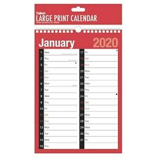 Large Print Calendar - 2 Columns - A4 - 2020