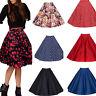 Women Vintage 50s Pinup Pleated Umbrella Bubble Skirt Midi Short Swing Dress