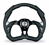 Volante Auto Sportivo EcoPelle Nero/Inox Simoni Racing Fiat 500 126 Epoca