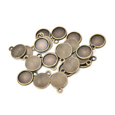 20pcs Necklace Pendant Setting Base Tray Bezel Blank Jewelry Making Findings LJ