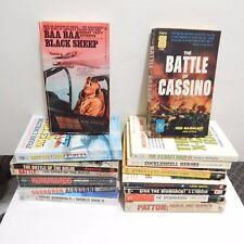 Military War Non Fiction Paperback Books Lot Of 15 Titles Battle Cassino Bulge
