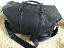 Brand New COACH Large Voyager 52 In Sport Leather Duffle Black Travel Bag