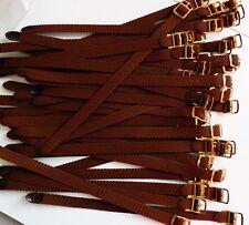 PROMO 50 Bracelet Montre Watch Bands Nylon Tressé Style Nato 8 mm Marron L 22 cm