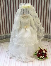 """MINIATURE DRESS - DOLLS HOUSE BRIDAL SHOP - """"BEATRICE"""" -  MINIATURE BRIDAL GOWN"""