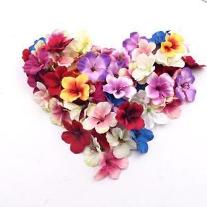 Mini Orchid Artificial Flower Heads Home Decor Real Touch Ornament Plants 20 Pcs