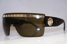 VERSACE Mens Unisex Designer Sunglasses Brown Shield MOD 2130 1252 73 13750