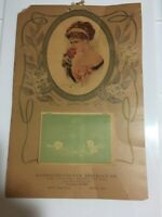 1919  Wall CALENDAR Girl Rose Sweetest Rose Randolph County Abstract Co 11 x 16