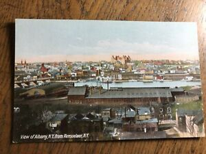 View of Albany from Rensselaer New York NY Postcard