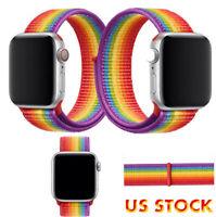 US Woven Nylon Sport Band Strap Bracelet For Apple Watch Series 6 5 4 3 2 1 SE