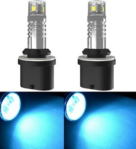 LED 20W 899 H27 Blue 10000K Two Bulbs Fog Light Replacement Upgrade Lamp Stock