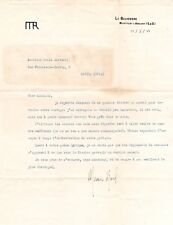 MAURICE RAVEL Composer 1 page type letter 1924, mentions Tzigane