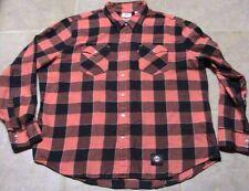 San Francisco Giants Levis Plaid Shirt Orange/Black Mens XXL Excellent