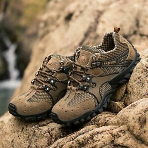 Breathable Trekking Shoes Men Hiking Sneakers Camping Mountain Trail Walking